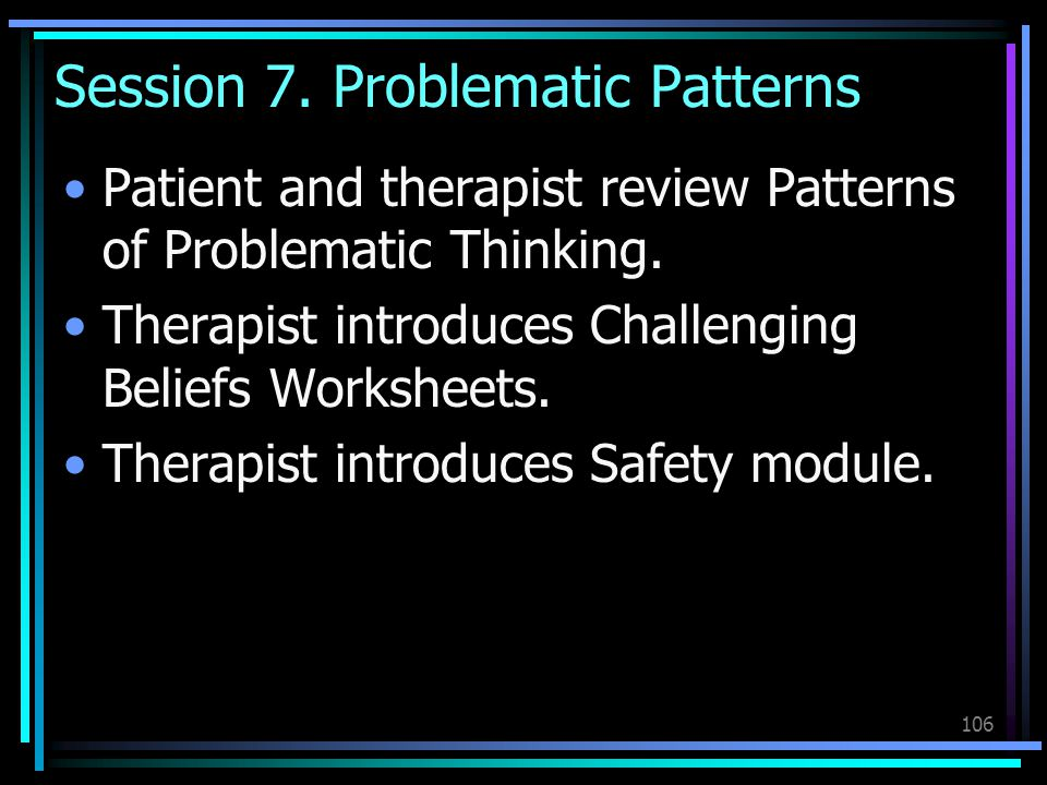 Session 7. Problematic Patterns