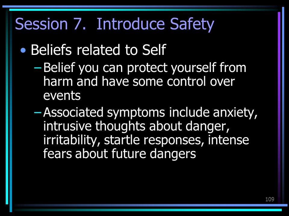 Session 7. Introduce Safety