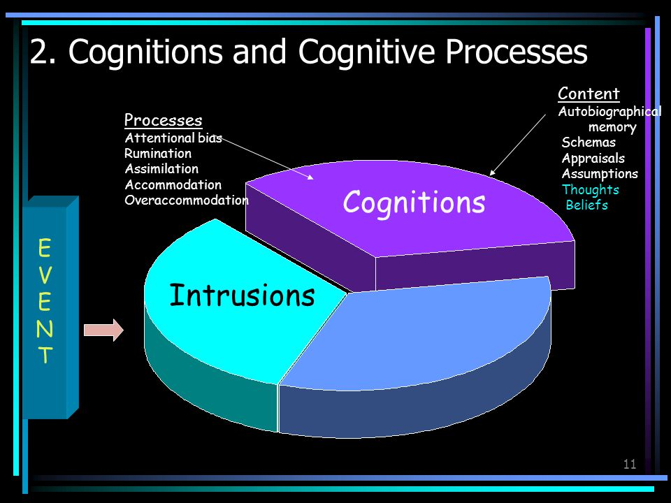 2. Cognitions and Cognitive Processes