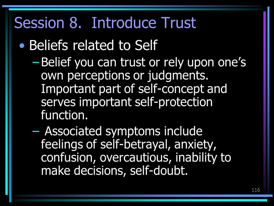 Session 8. Introduce Trust
