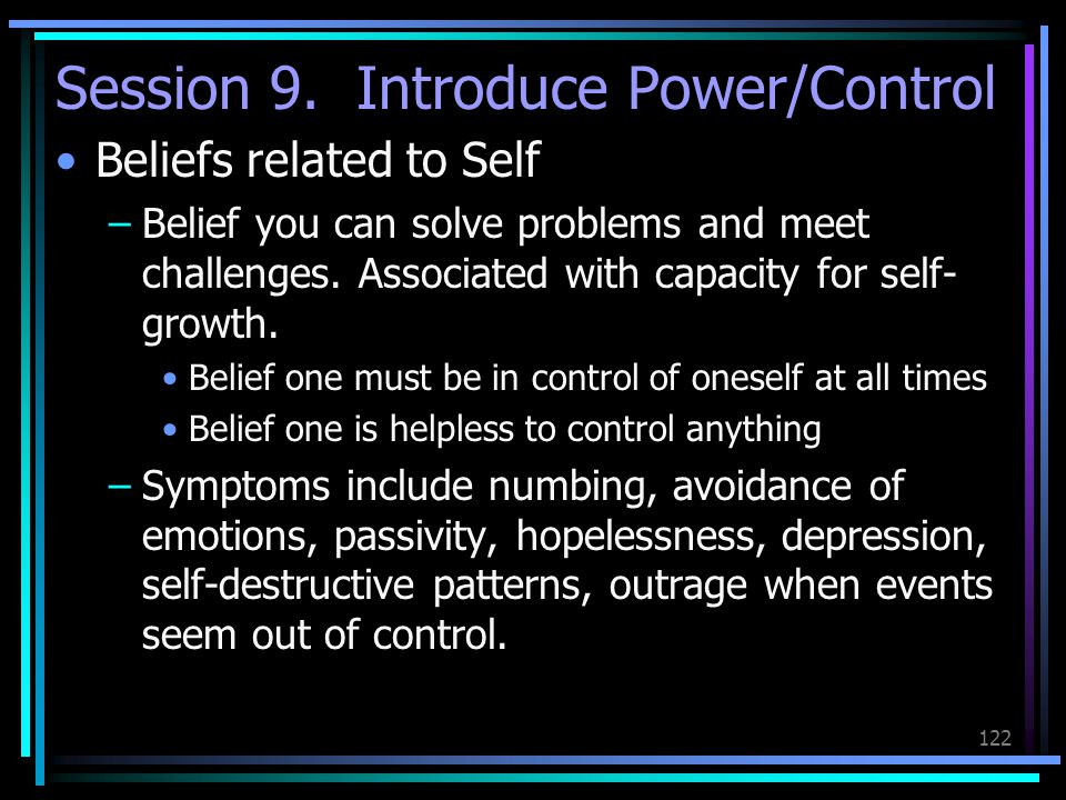 Session 9. Introduce Power/Control