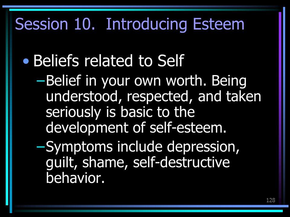 Session 10. Introducing Esteem