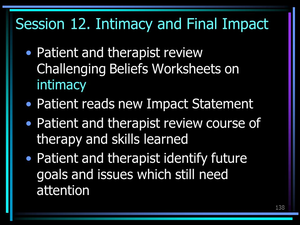Session 12. Intimacy and Final Impact