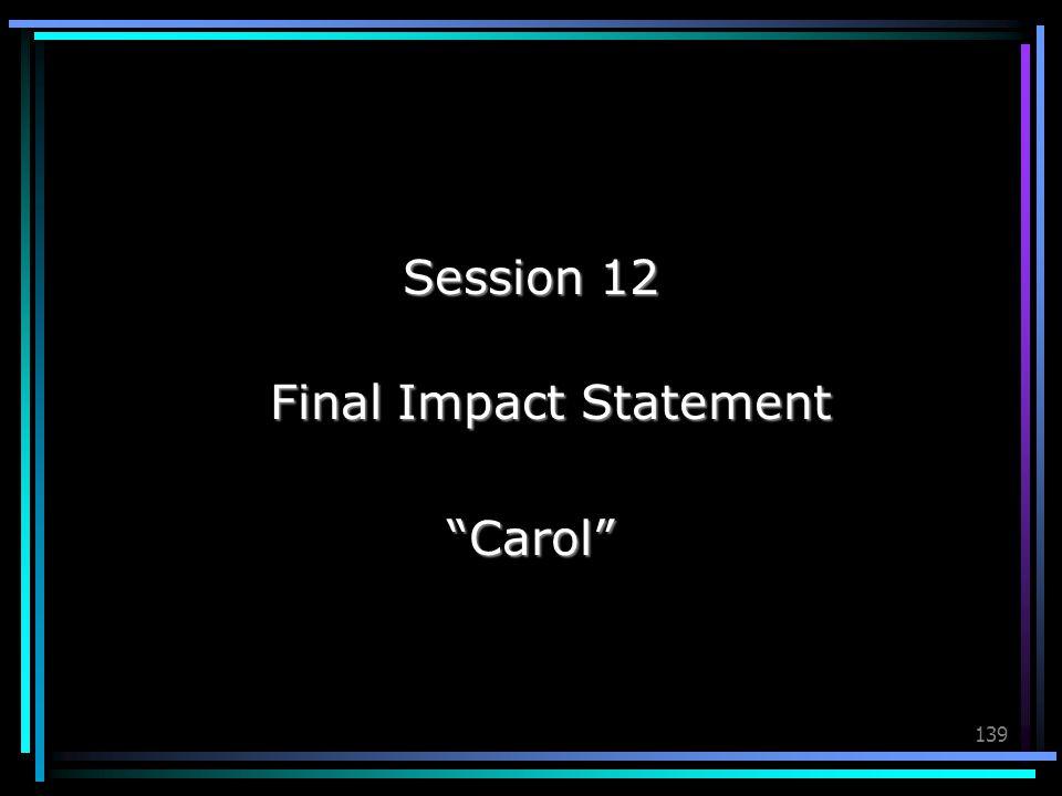 Final Impact Statement