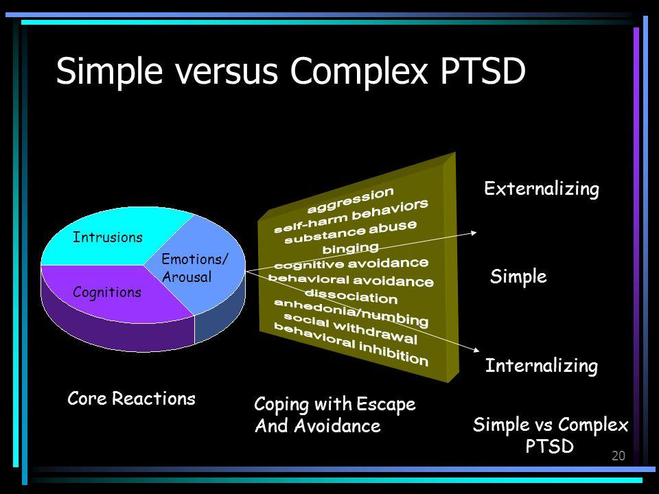 Simple versus Complex PTSD