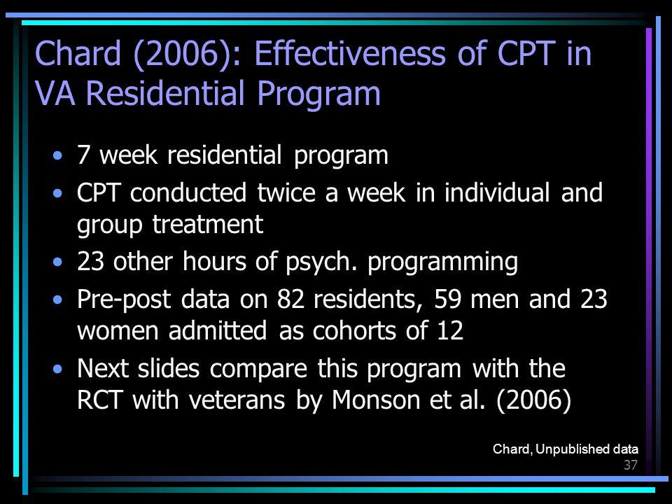 Chard (2006): Effectiveness of CPT in VA Residential Program