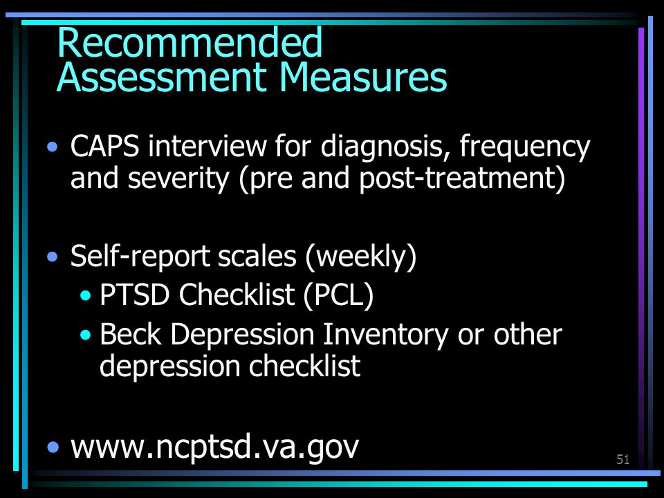 Recommended Assessment Measures