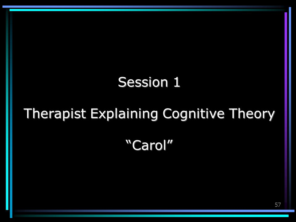 Therapist Explaining Cognitive Theory