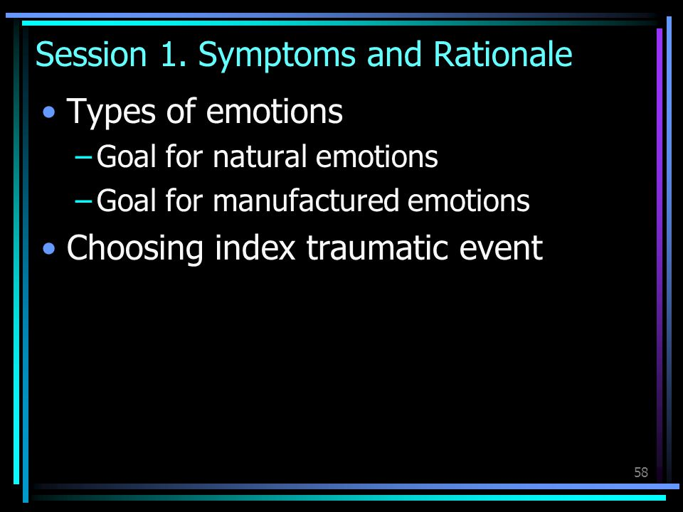 Session 1. Symptoms and Rationale