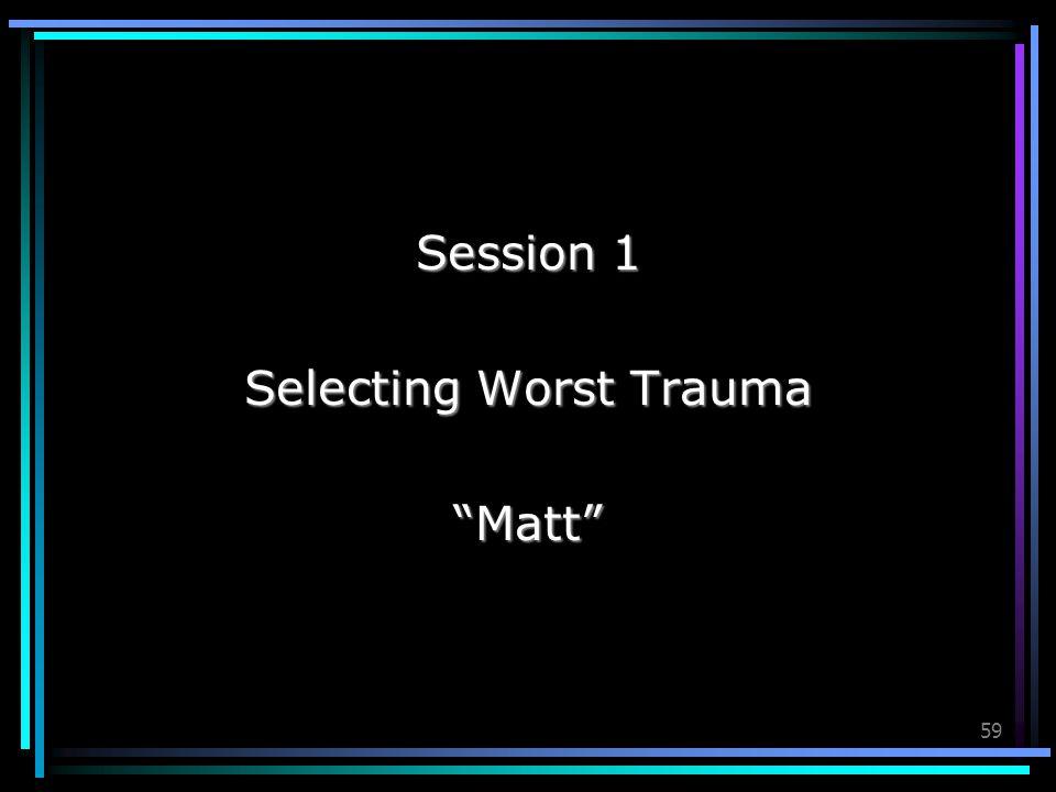 Selecting Worst Trauma