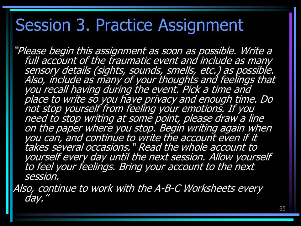 Session 3. Practice Assignment