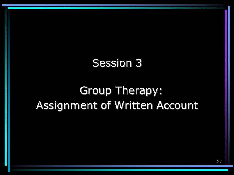 Assignment of Written Account