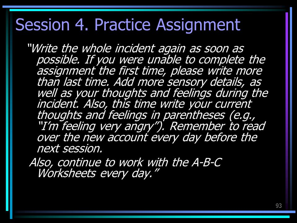 Session 4. Practice Assignment