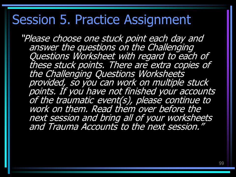 Session 5. Practice Assignment