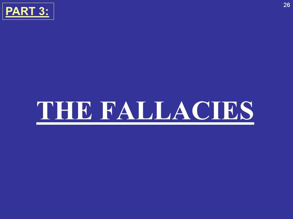THE FALLACIES PART 3:
