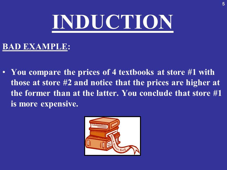 INDUCTION BAD EXAMPLE: