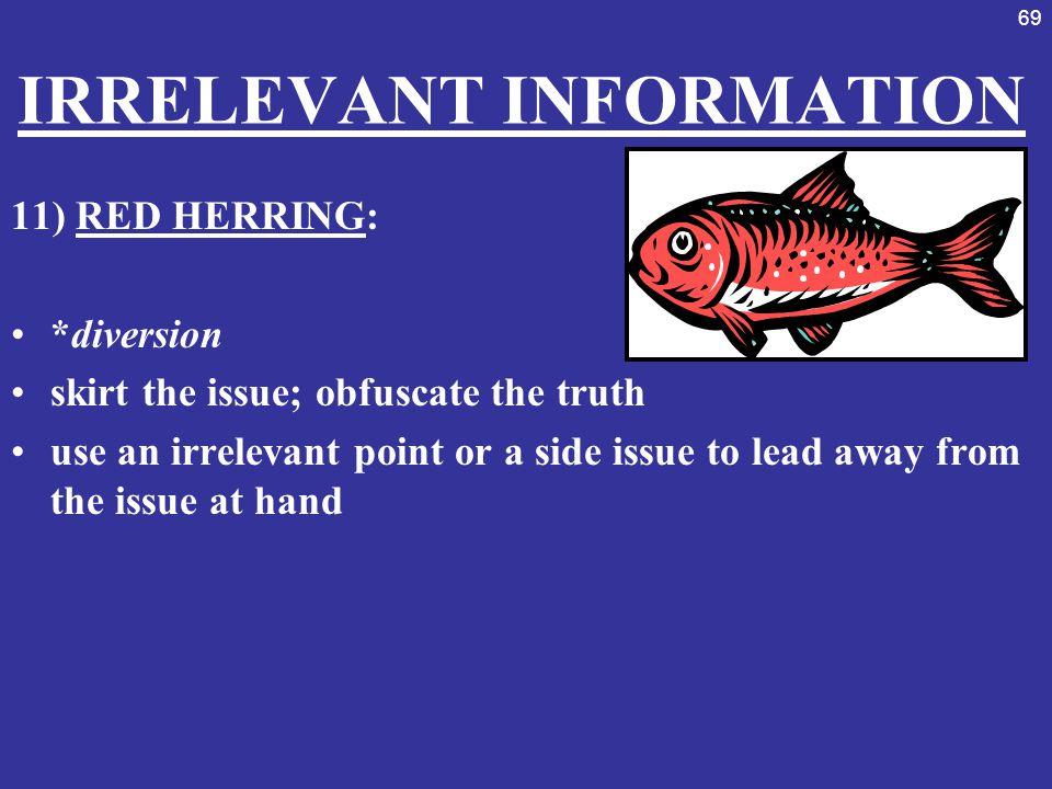 IRRELEVANT INFORMATION