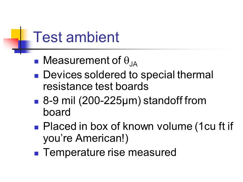 Test ambient Measurement of qJA