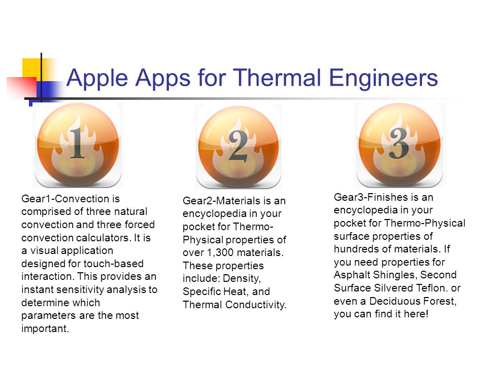 Apple Apps for Thermal Engineers