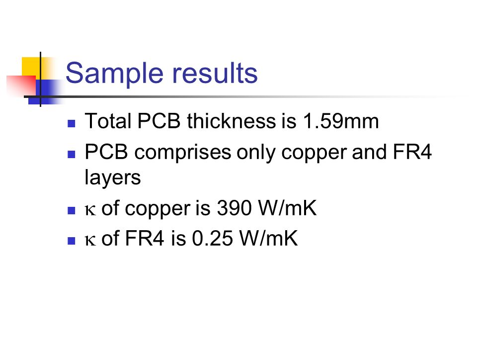 Sample results Total PCB thickness is 1.59mm