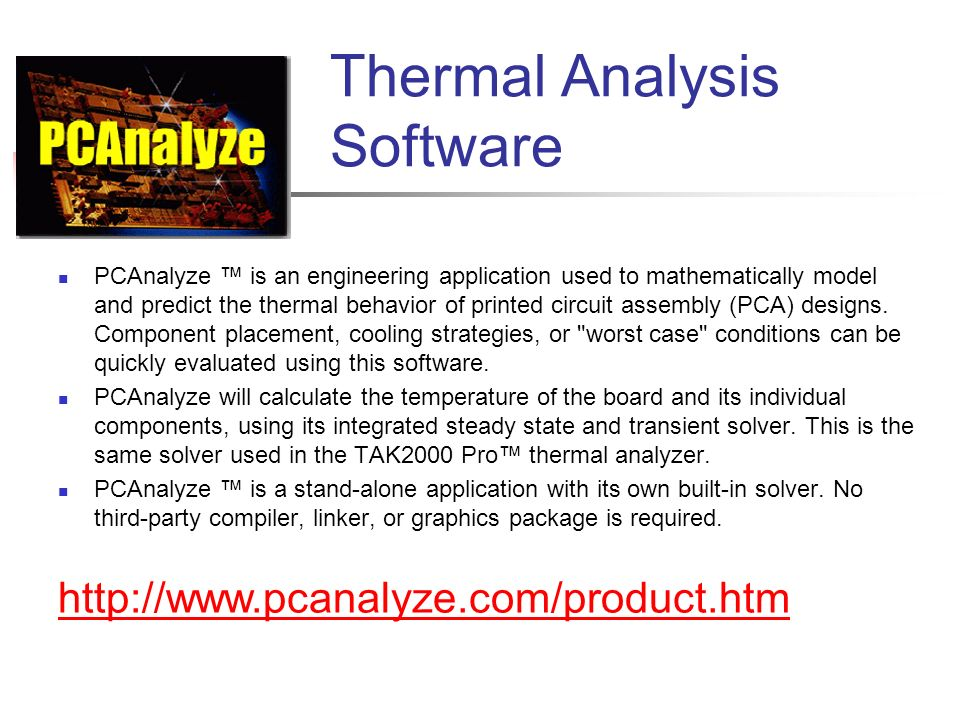Thermal Analysis Software