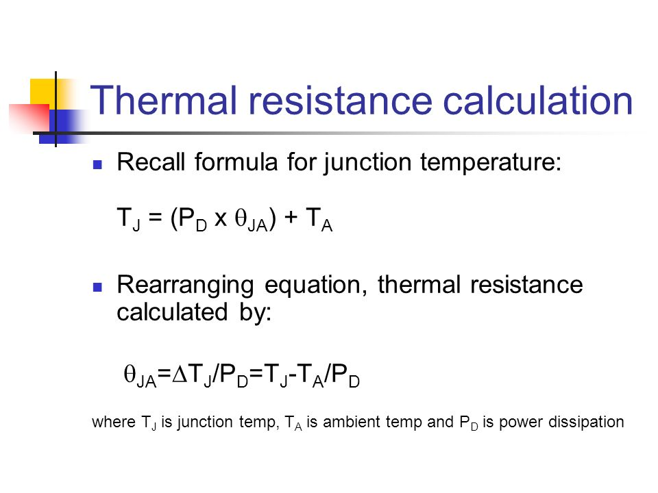 Thermal resistance calculation