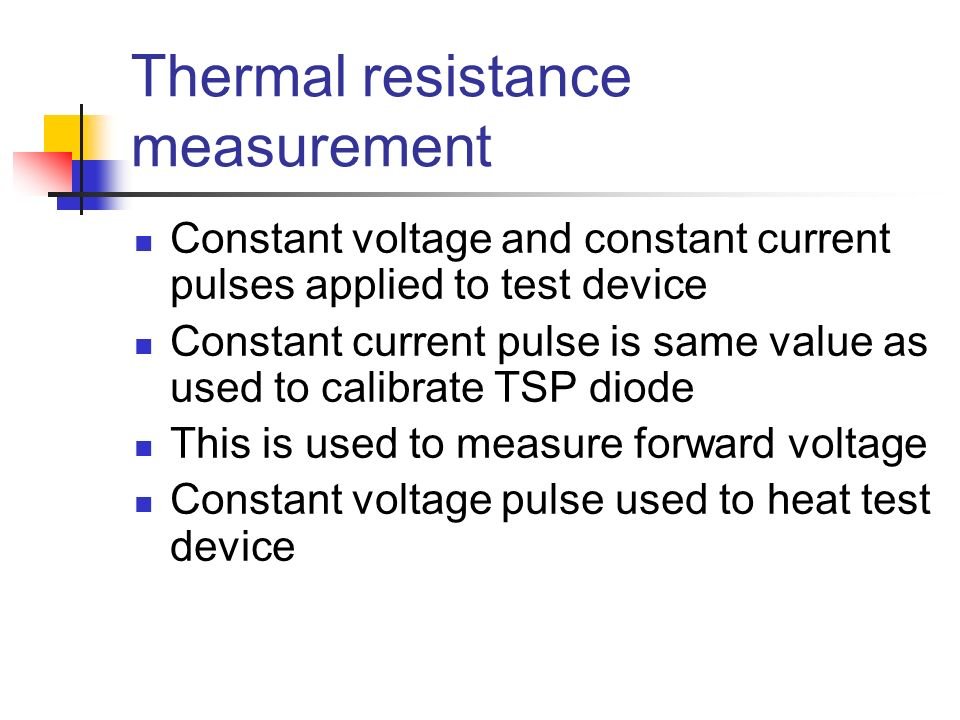 Thermal resistance measurement