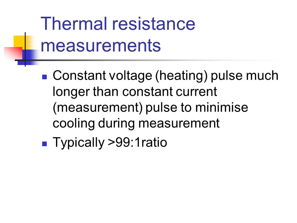 Thermal resistance measurements