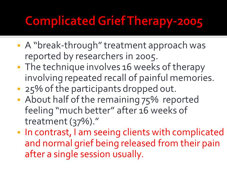 Complicated Grief Therapy-2005