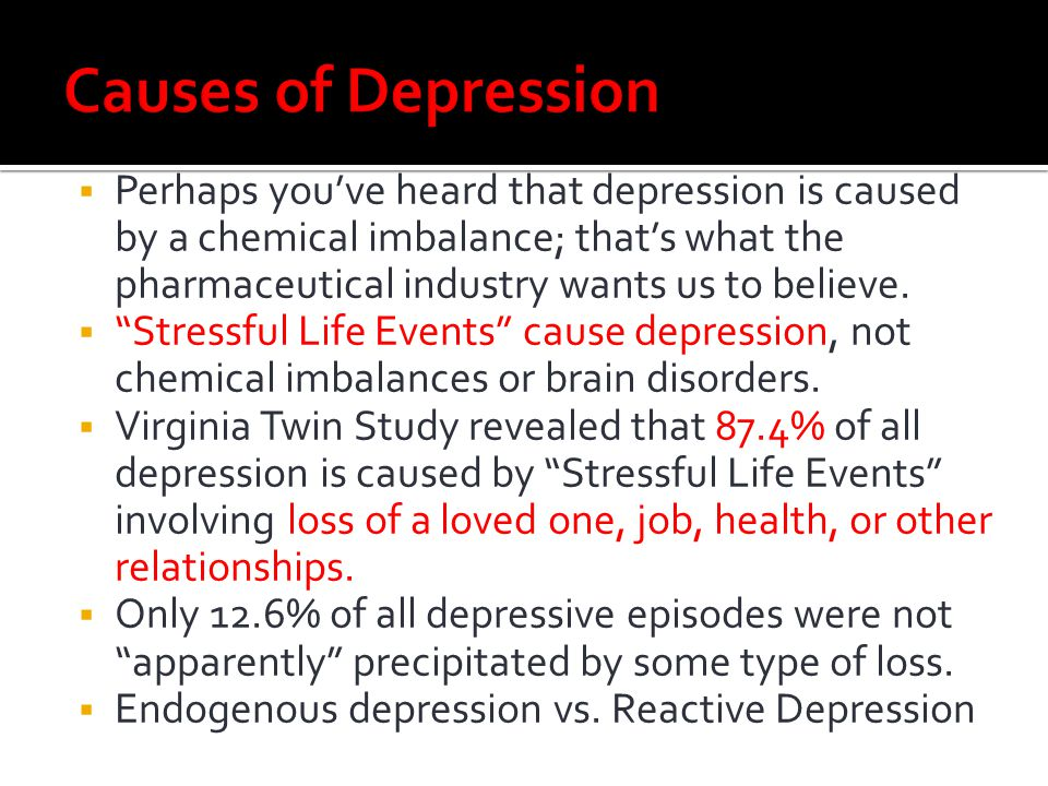 Causes of Depression