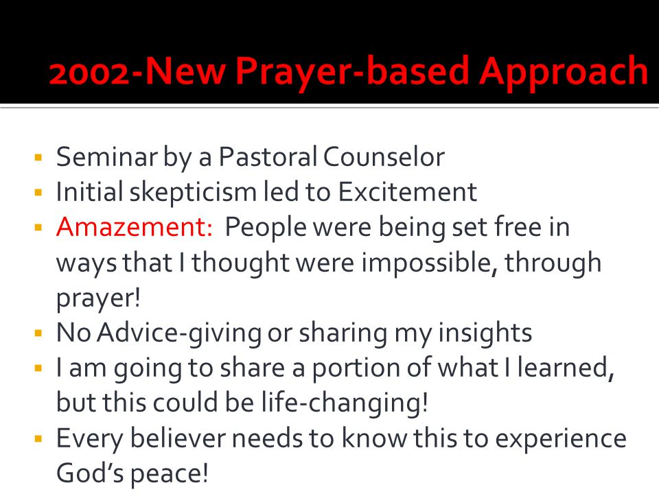 2002-New Prayer-based Approach