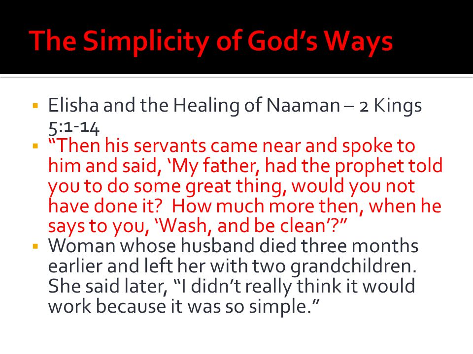 The Simplicity of God's Ways