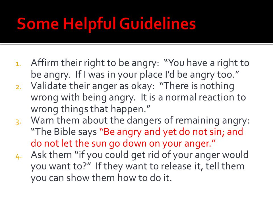 Some Helpful Guidelines