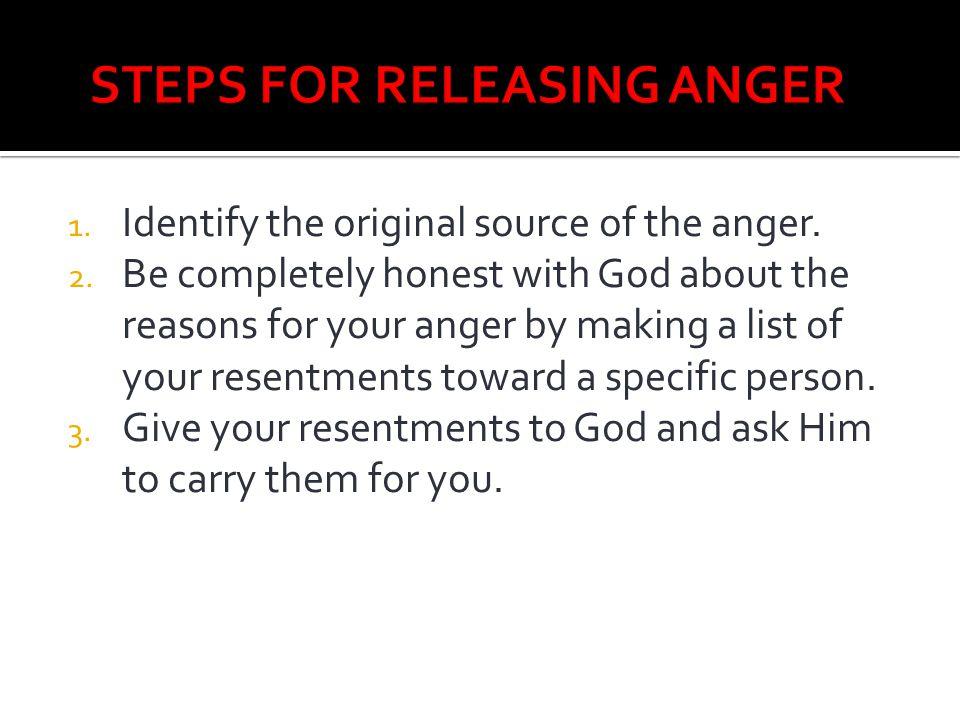 STEPS FOR RELEASING ANGER