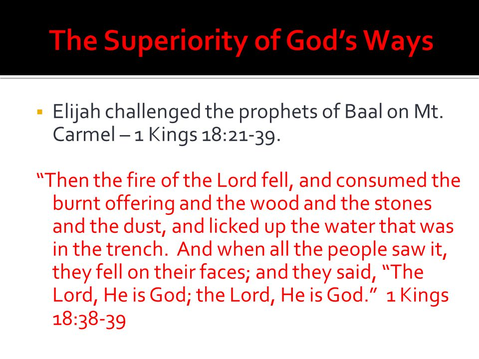 The Superiority of God's Ways
