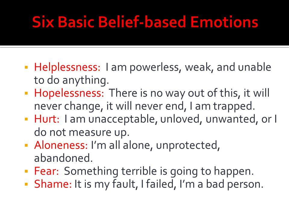 Six Basic Belief-based Emotions