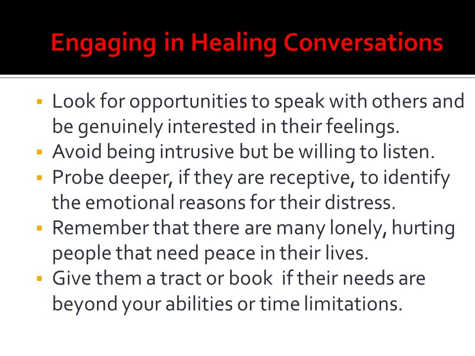 Engaging in Healing Conversations