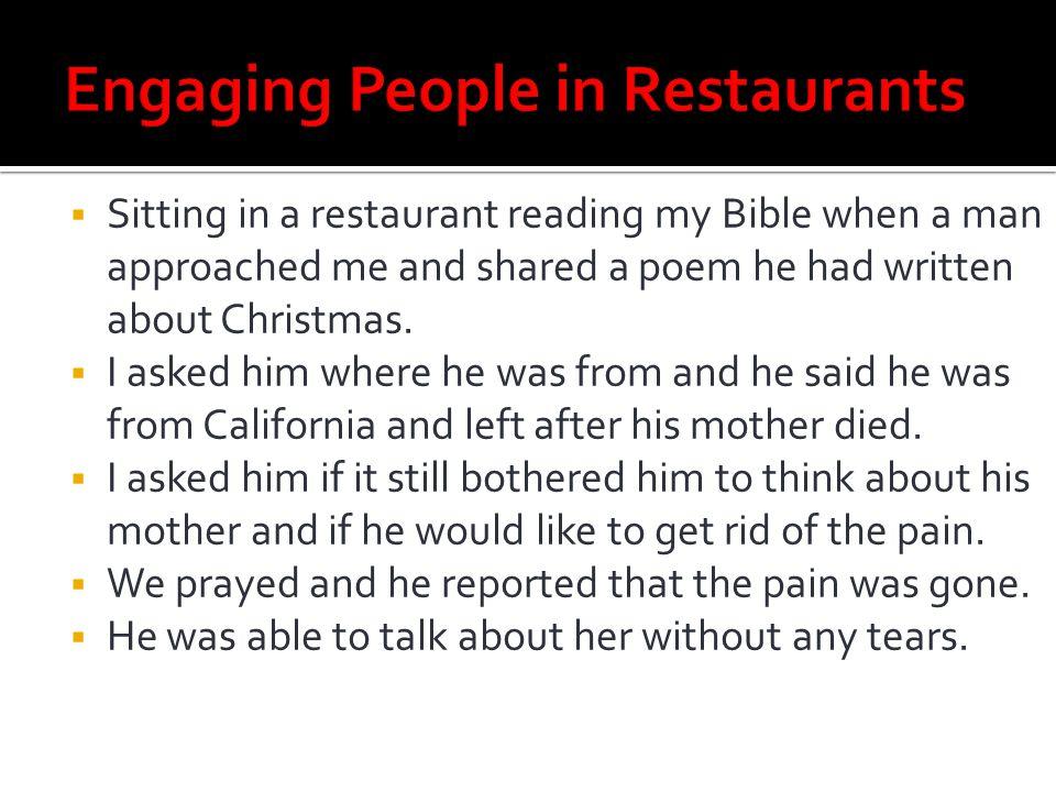Engaging People in Restaurants