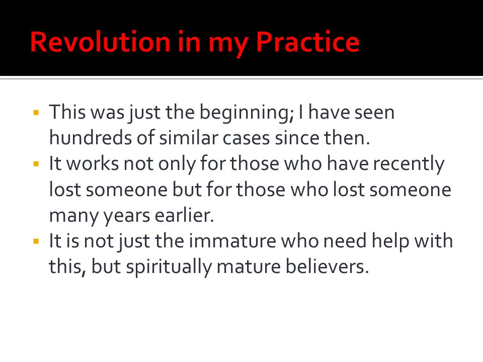 Revolution in my Practice