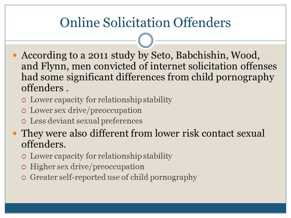 Online Solicitation Offenders