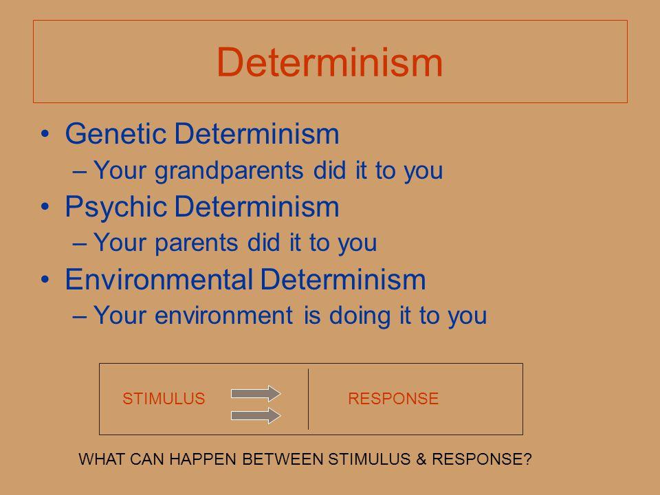 Determinism Genetic Determinism Psychic Determinism
