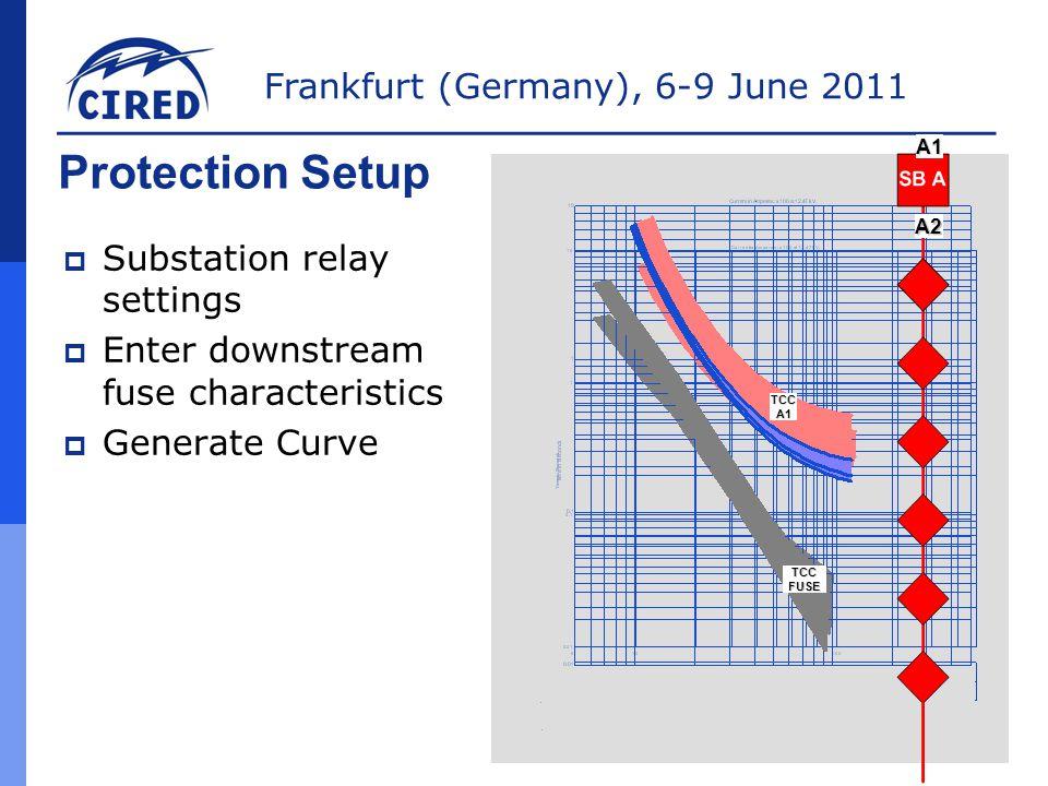 Protection Setup Substation relay settings