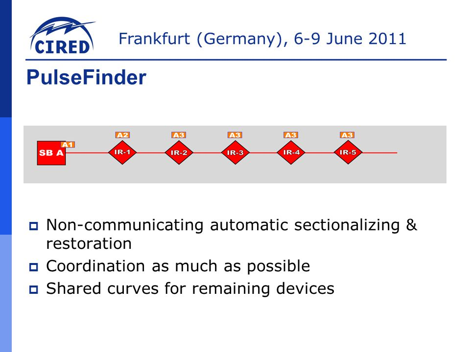PulseFinder Non-communicating automatic sectionalizing & restoration