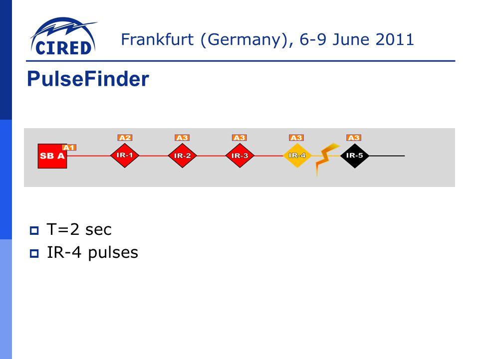 PulseFinder T=2 sec IR-4 pulses