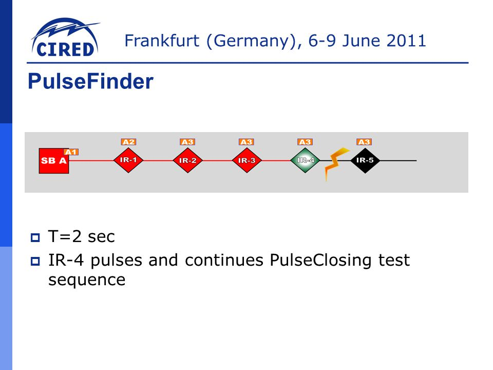 PulseFinder T=2 sec IR-4 pulses and continues PulseClosing test sequence