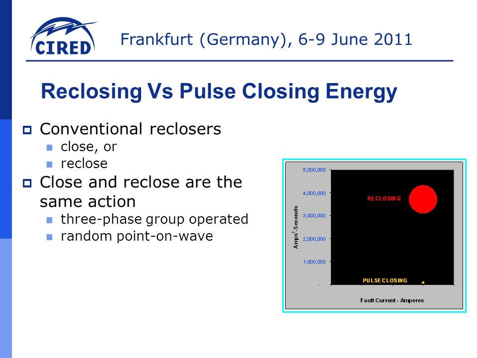 Reclosing Vs Pulse Closing Energy