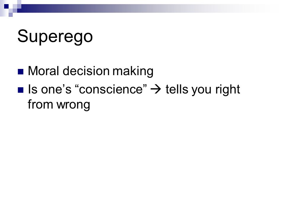 Superego Moral decision making