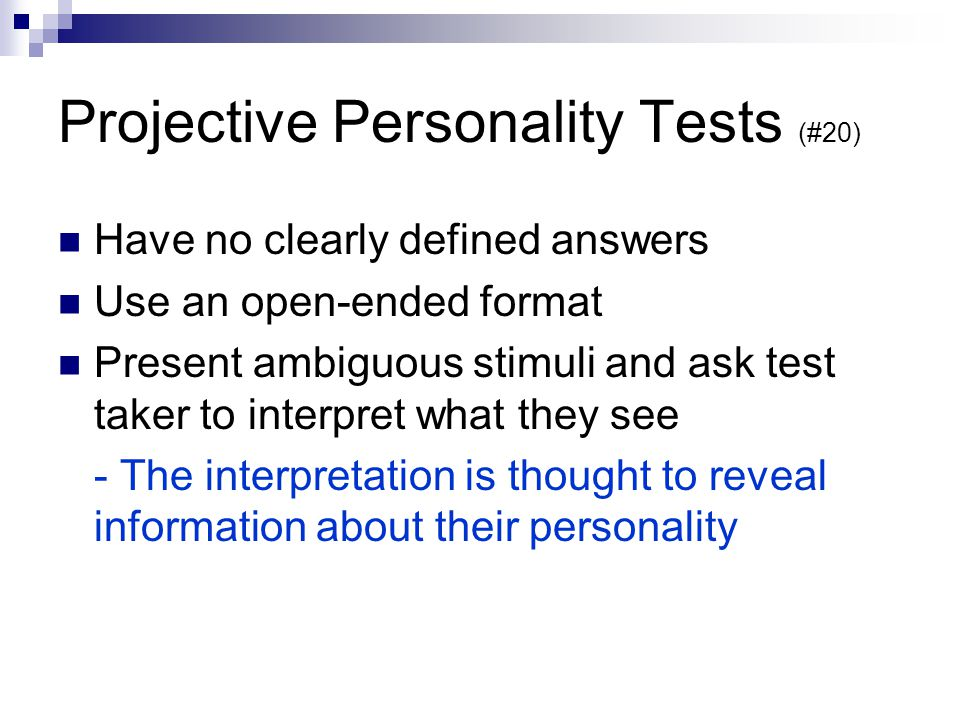 Projective Personality Tests (#20)