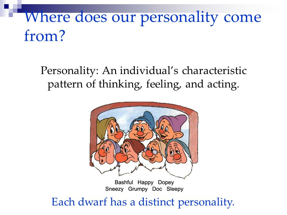 Where does our personality come from