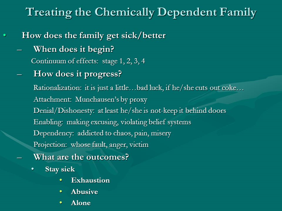 Treating the Chemically Dependent Family